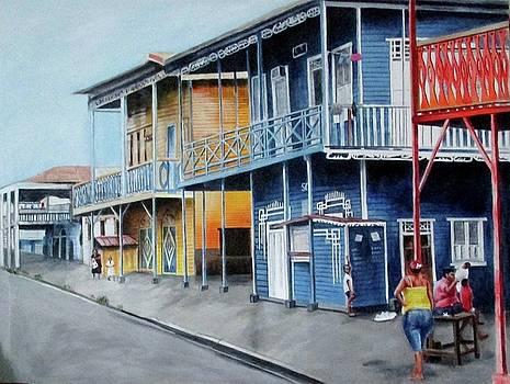 street in Cristoba, panama by Suzahn King