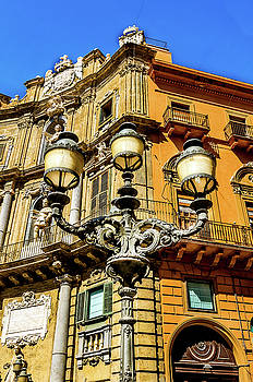 Street lamp floor corners Palermo Sicily by Xavier Cardell