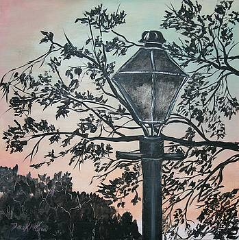 Street Lamp Historic Vintage Art Print by Derek Mccrea