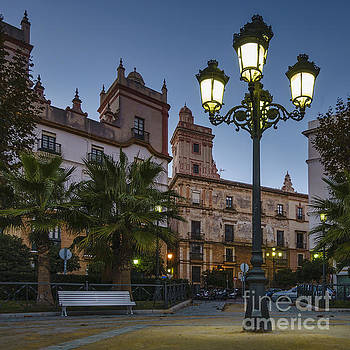 Street Light in Spain Square Cadiz Spain by Pablo Avanzini