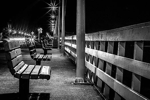 Santa Cruz Wharf at Night by Randy Bayne