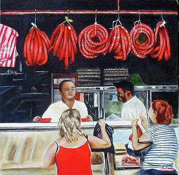 Street Meat Shop by Suzahn King