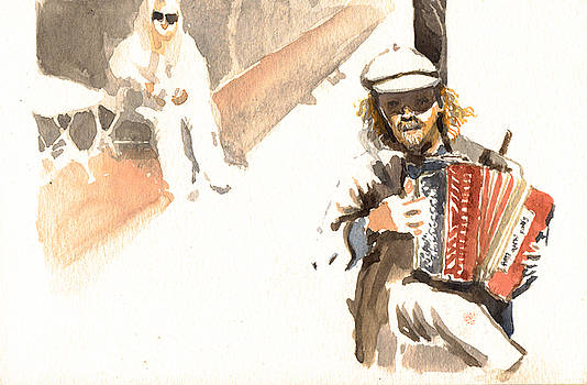 Street Musician by Omar Jaramillo