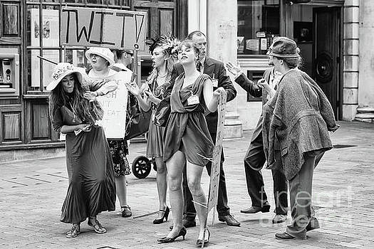 Street performers angry protest by Simon Bratt Photography LRPS
