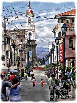 Street Scene In Cotacachi, Ecuador by Al Bourassa