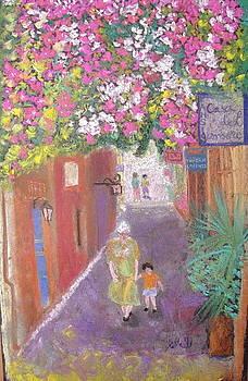 street scene in Crete by Elena Malec