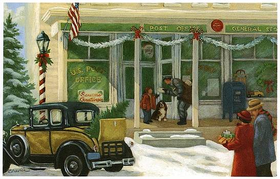 Street Scene In Small Town With People by Gillham Studios