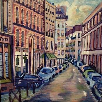 Street Scene Paris 1 by Fran Steinmark
