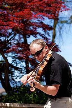 Street Violinist I by Michael Thibault
