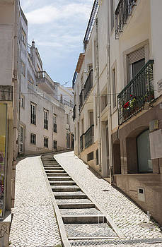 Compuinfoto  - street with staircase in Lagos Portugal