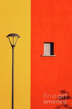 Streetlamp window and shadow by Silvia Ganora