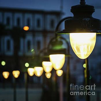 Streetlights La Caleta Cadiz Spain by Pablo Avanzini