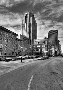 Mel Steinhauer - Streets Of Downtown Cincinnati BW