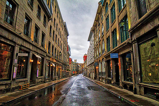 Streets of Old Montreal After Rain by Darcy Michaelchuk