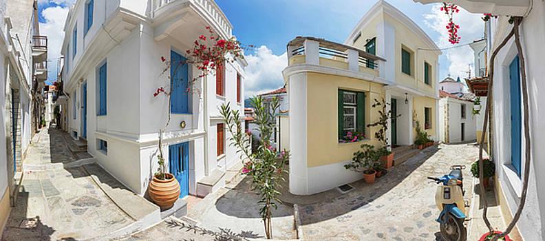 Streets of Skopelos by Evgeni Dinev