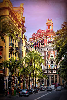 Streets of Valencia Spain  by Carol Japp