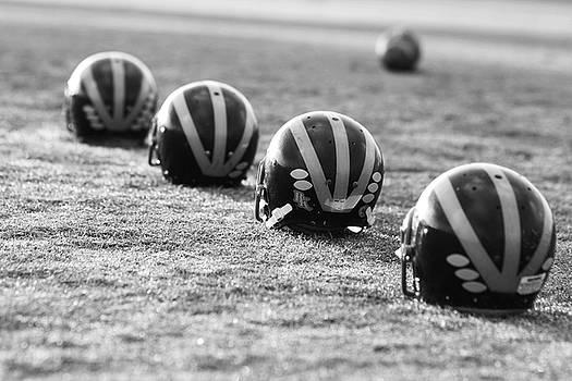 Striped Helmets on the Field by Michigan Helmet