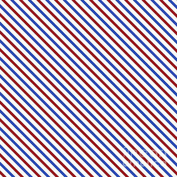 Stripes Diagonal Carmine Red Cobalt Blue Simple Modern by Beverly Claire Kaiya