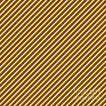 Stripes Diagonal Chocolate Banana Yellow Toffee Cream by Beverly Claire Kaiya