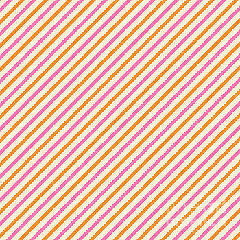 Beverly Claire Kaiya - Stripes Diagonal Orange Pink Peach Simple Modern
