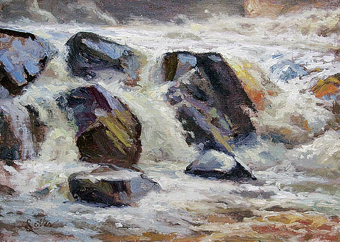 Strong Falls Plein Air Demo by Larry Seiler