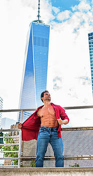 Alexander Image - Strong, Health Middle Age American Man traveling in New York