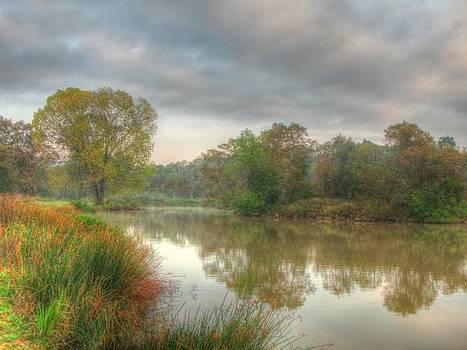 Struben Dam on an Autumn Morning by Dave Harcourt