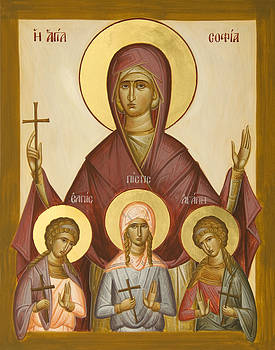 Sts Sophia Faith Hope and Love by Julia Bridget Hayes