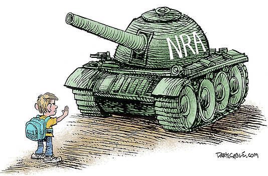Students vs the NRA by Daryl Cagle