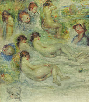 Pierre Auguste Renoir - Studies of Pierre Renoir, his Mother, Aline Charigot, nudes, and landscape