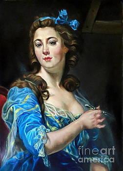 study after Self portrait of Marie-Gabrielle Capet  by Hidemi Tada
