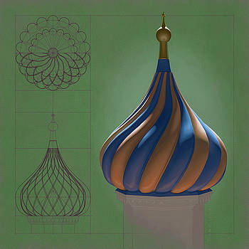 Study for an Onion Dome by Swann Smith