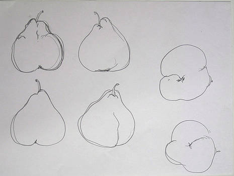 study for Pear and Balanced by Linda DiGusta