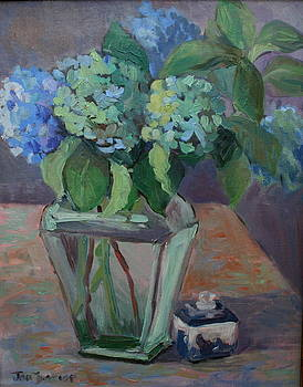 Study in Blue and Green by Jan Frazier