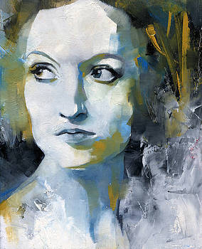 Study in Blue and Ochre by Patricia Ariel