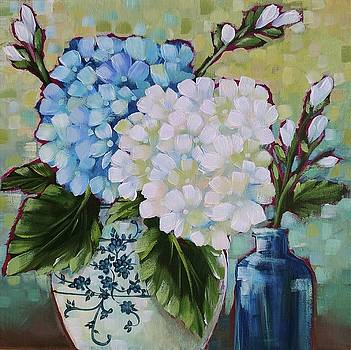 Study in Blue and White by Becky Schultea