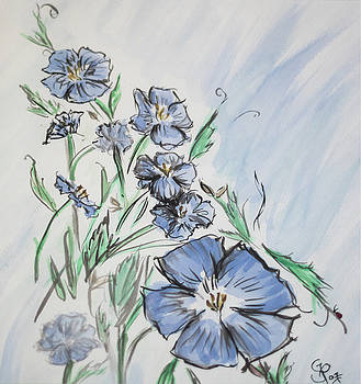 Study In Blue by Gaynell Parker