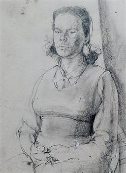 Harry Robertson - Study of a Seated Girl.