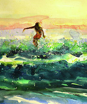 Study of a surfer 1 by Julianne Felton