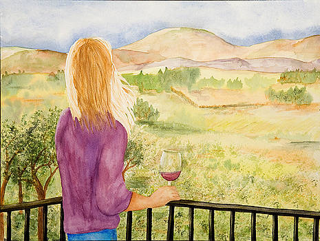 Study of a wine ad by Vicki  Housel