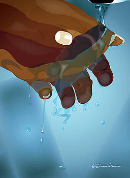 Study Of Hands No.5 by Sandra Jean-Pierre