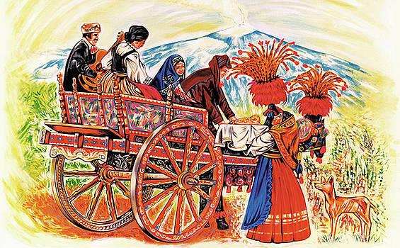Study of Sicilian Cart and Volcano Etna by Ismaele Alongi