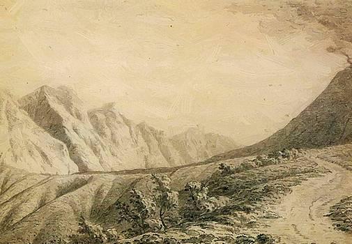 Wright Joseph - Study Of The Terrain Near Vesuvius