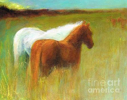 Study of Two Ponies by Frances Marino