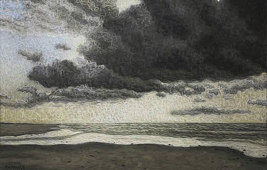 Study stormy sky, Oye Plage by Raphael Seygnovert