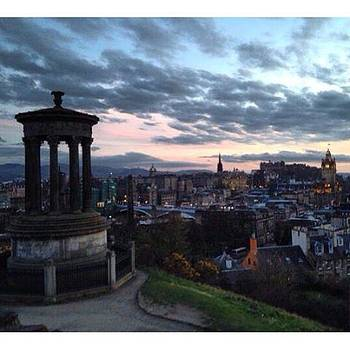 Stunning Sunset Over Edinburgh As Seen by Stefano Bagnasco