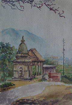 Stupa by Sarupa  Shrestha