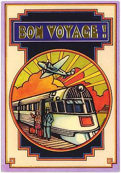 Stylized Bon Voyage Vintage Poster by Gillham Studios