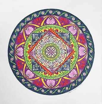 Stylized Greek Mandala by Kathleen Walker
