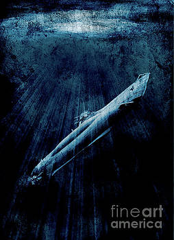 Submarine or Uboat surfacing by Mark Fearon